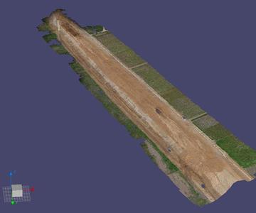 阿良須地区上流築堤工事
